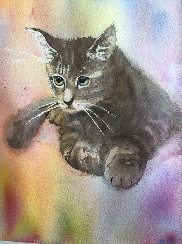 """Kitten"" original fine art by Natasha Ramras"