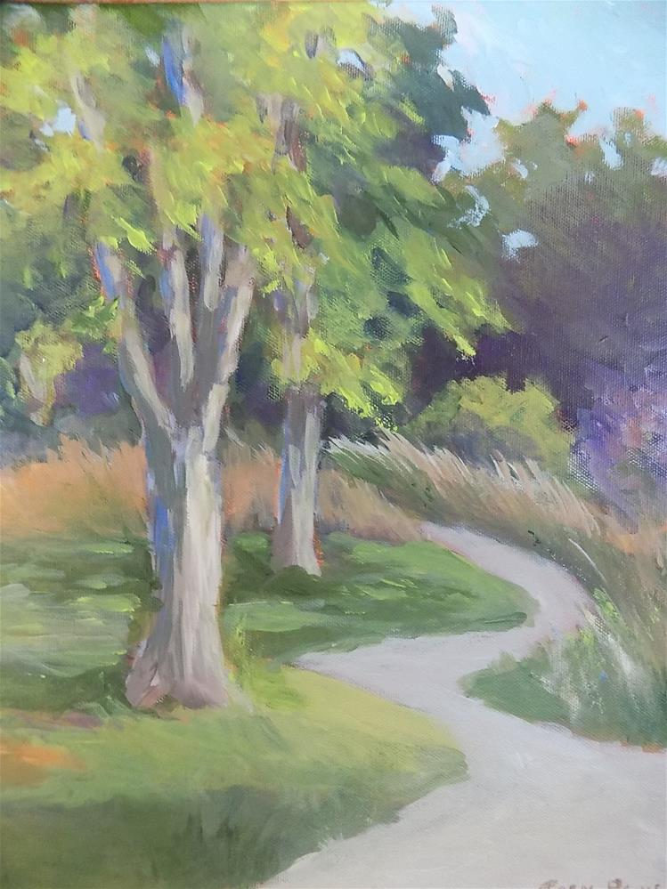 """Trail on Potter's Creek"" original fine art by Joan Reive"