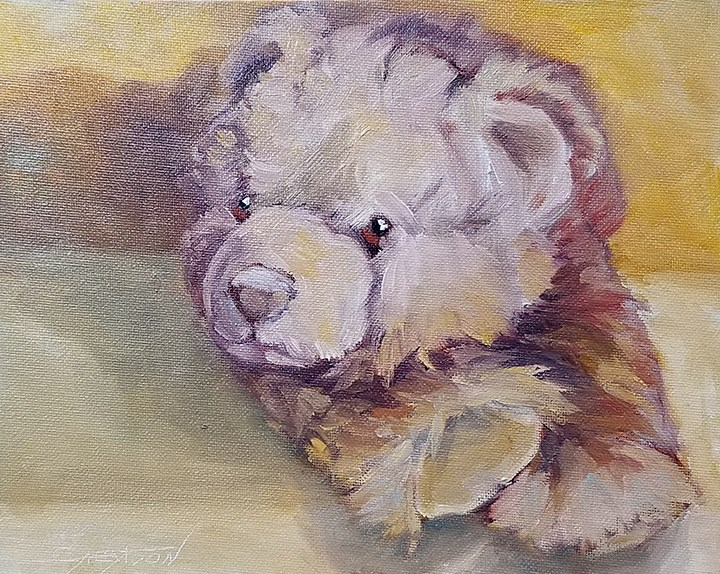 """Sweet Bear Oil"" original fine art by Gabriella DeLamater"
