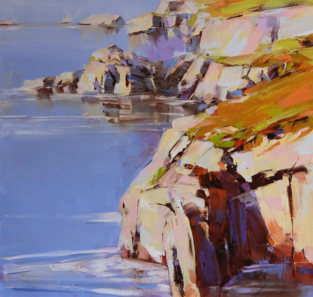 """OCEAN SIDE WEST COAST HIGHWAY"" original fine art by V Yeremyan"