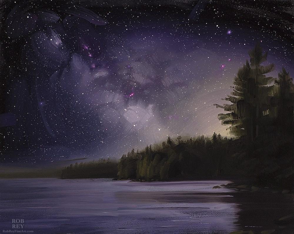 """Milky Way Rising"" original fine art by Rob  Rey"