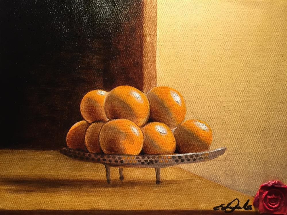 """""""Sweet Oranges"""" original fine art by Eduardo Posadas"""