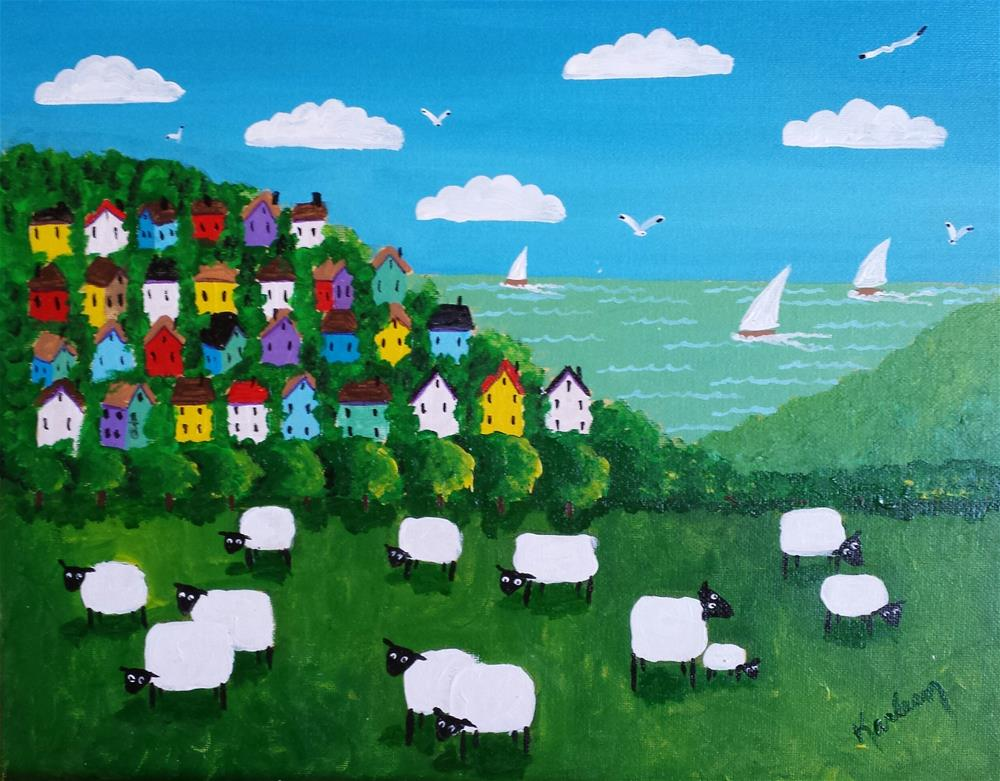 """A View of the Sheep"" original fine art by Karleen Kareem"