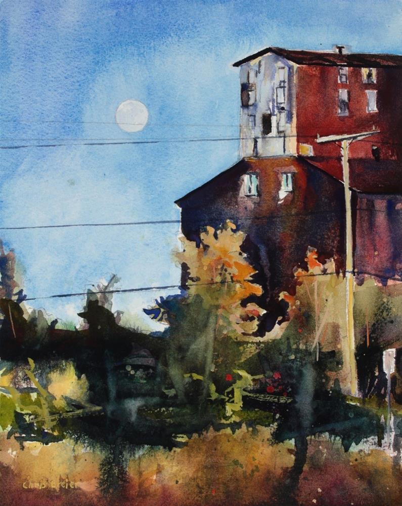 """""""Moonrise"""" original fine art by Chris Breier"""