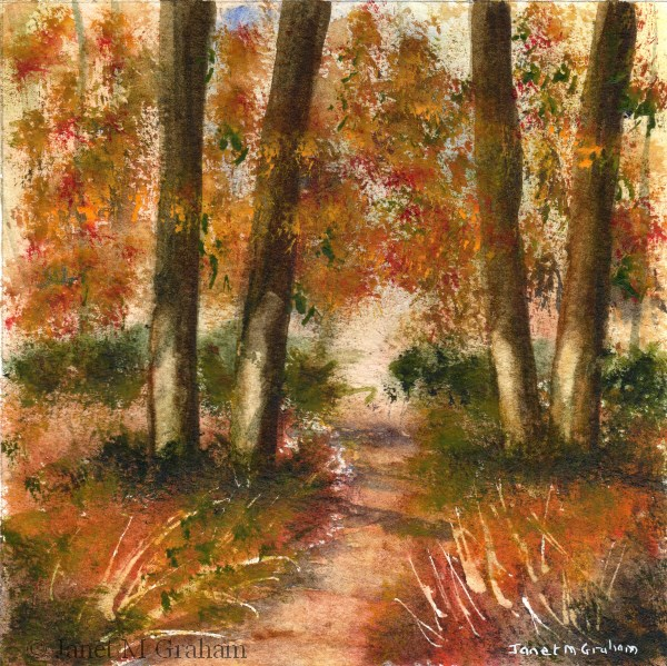 """Autumn Pathway"" original fine art by Janet Graham"
