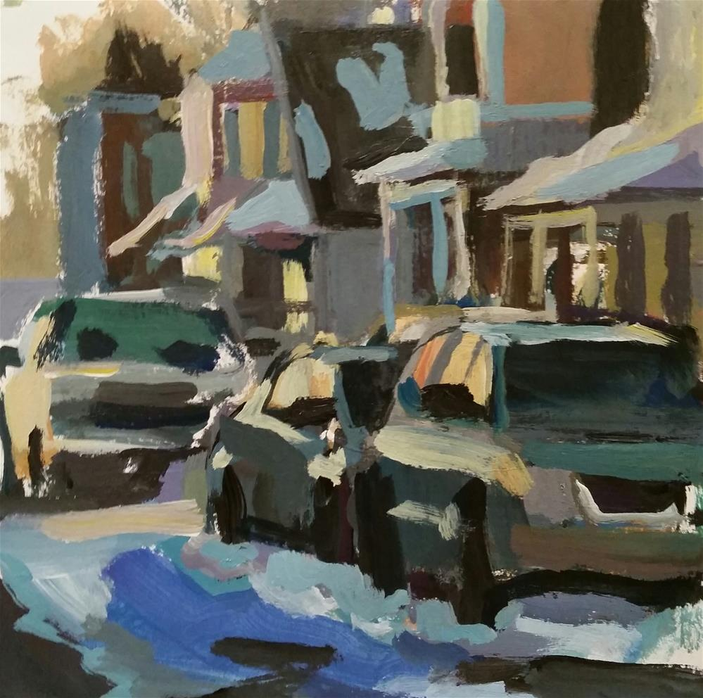 """Sunset on Park Street"" original fine art by Liz Maynes"