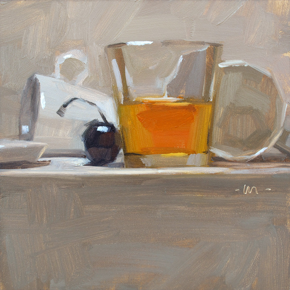 """Whiskey or Tea?"" original fine art by Carol Marine"