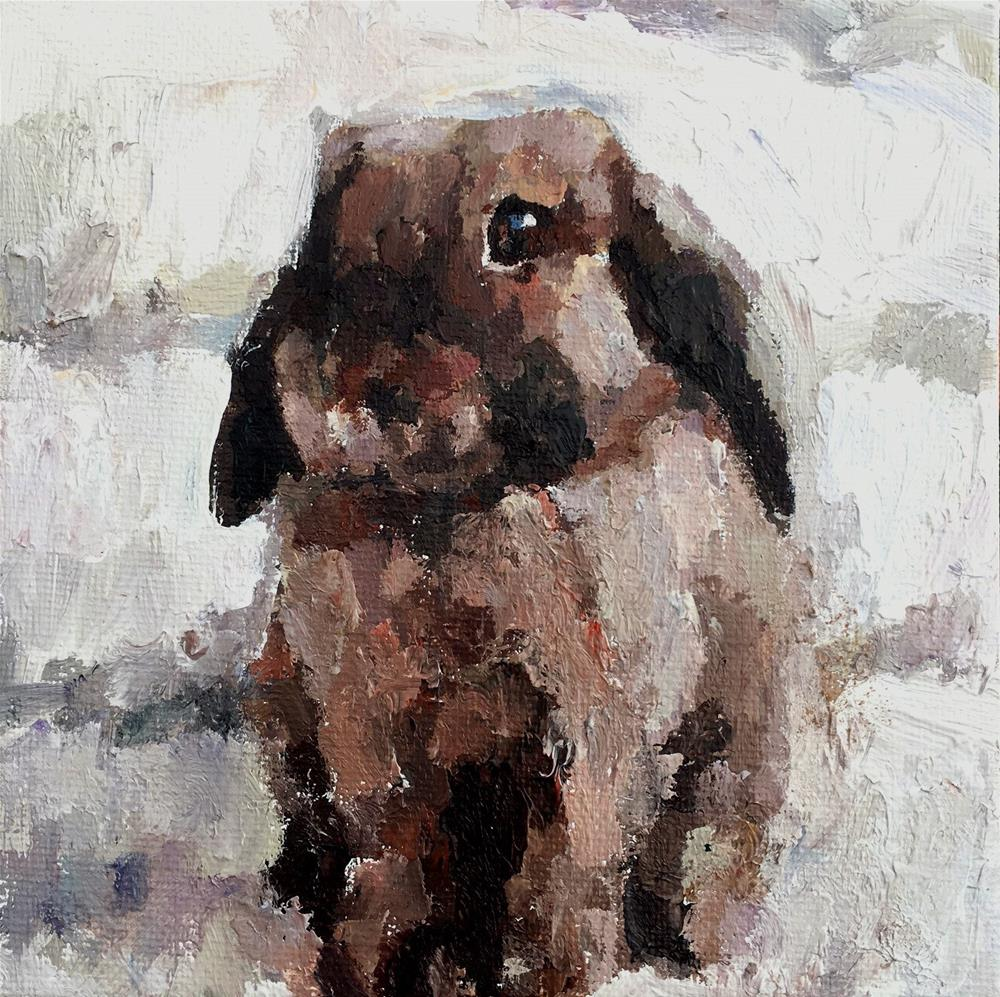 """Bunny"" original fine art by Nava Judith"