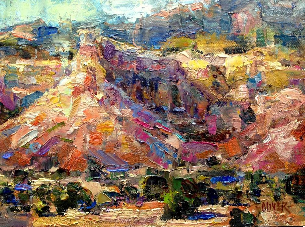 """Georgia's View - Ghost Ranch, NM."" original fine art by Julie Ford Oliver"