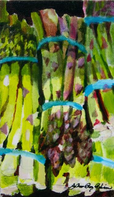"""""""Green Spears"""" original fine art by JoAnne Perez Robinson"""