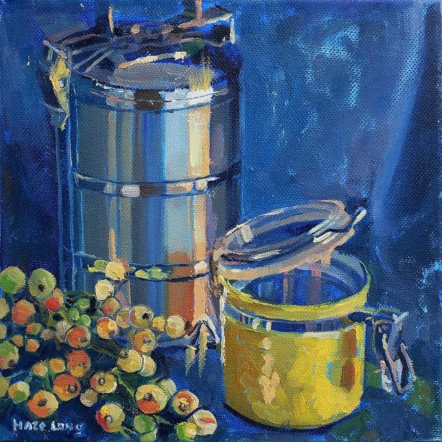 """Tiffin & Fig"" original fine art by Haze Long"