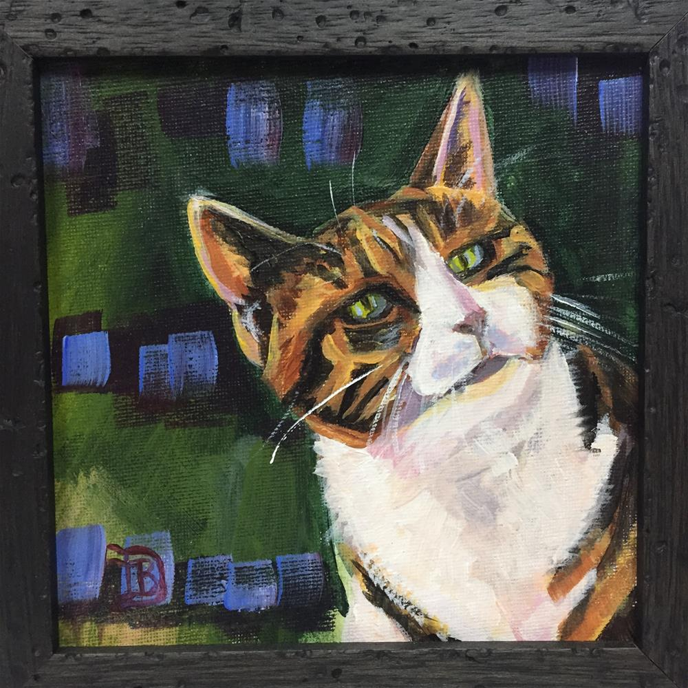 """#5 Here Kitty Kitty"" original fine art by Bobbie Deuell"