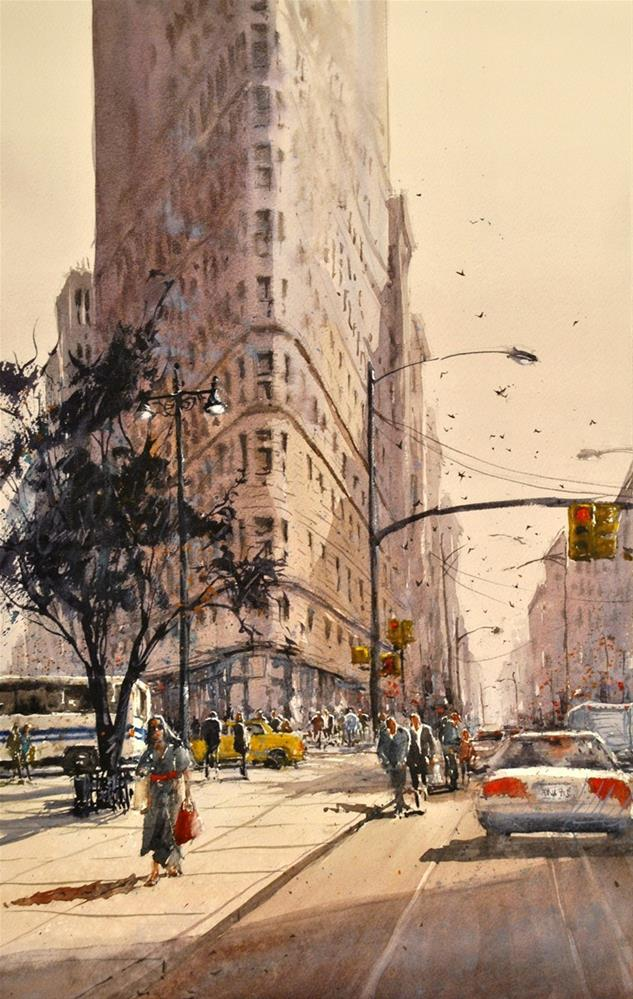 """Flat Iron"" original fine art by Brienne M Brown"