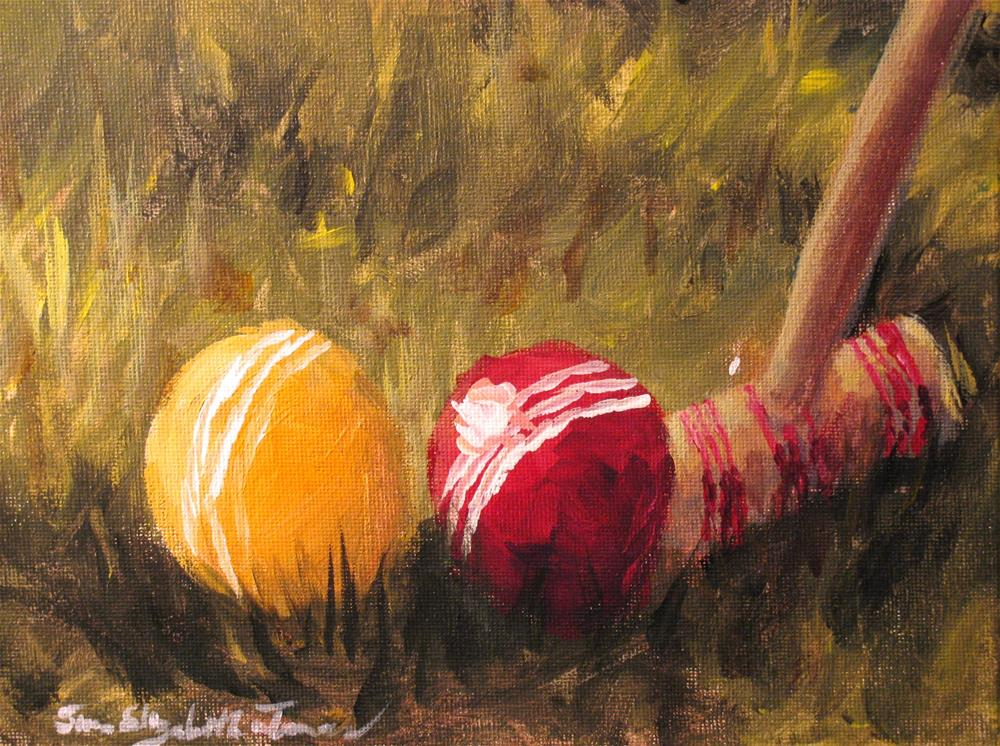 """No Wickets"" original fine art by Susan Elizabeth Jones"