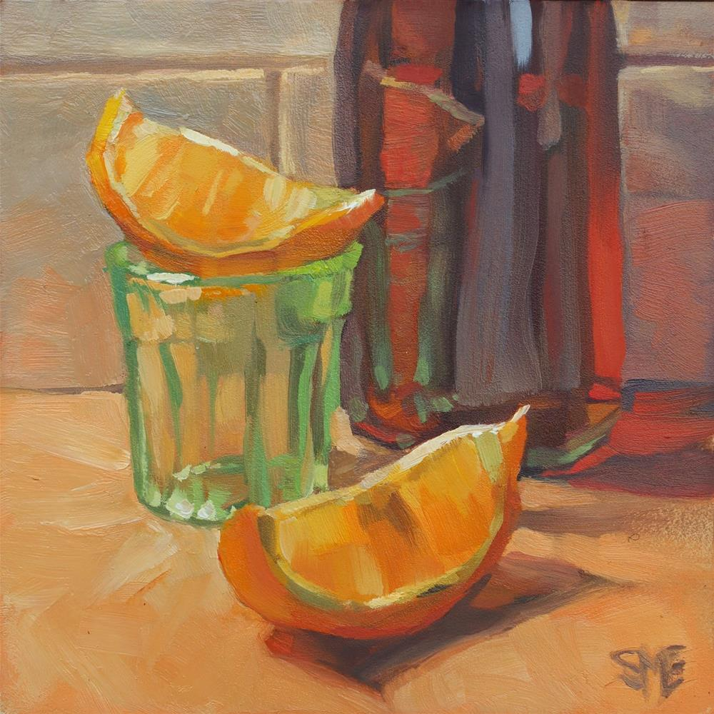 """Green Glass"" original fine art by Sheila Evans"