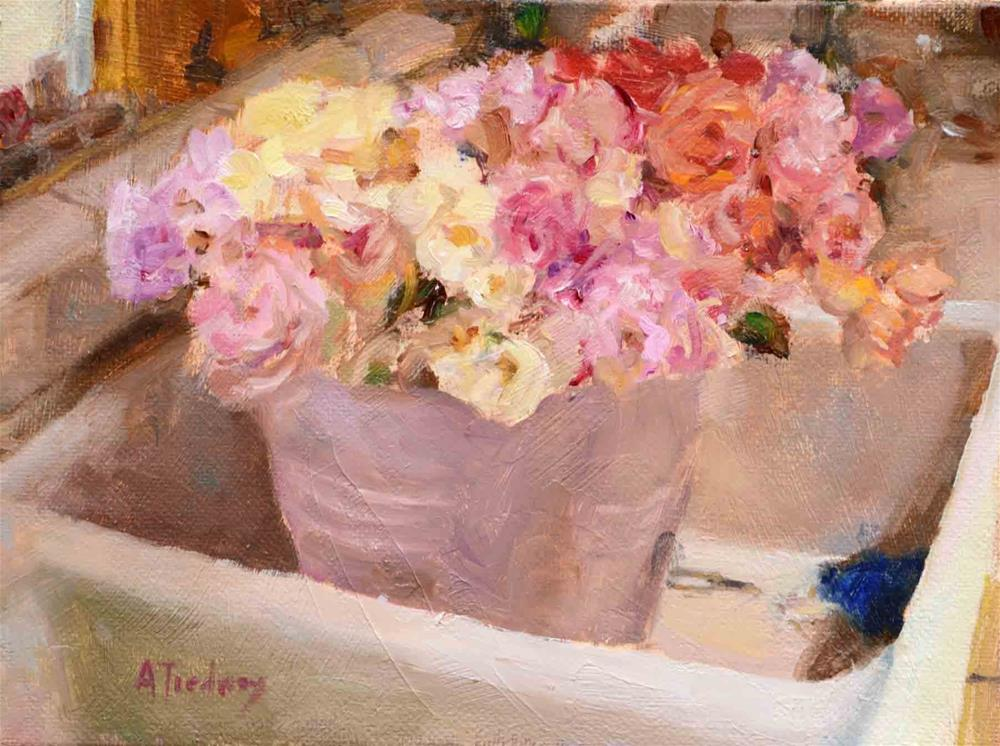 """Roses in Sink"" original fine art by alicia tredway"