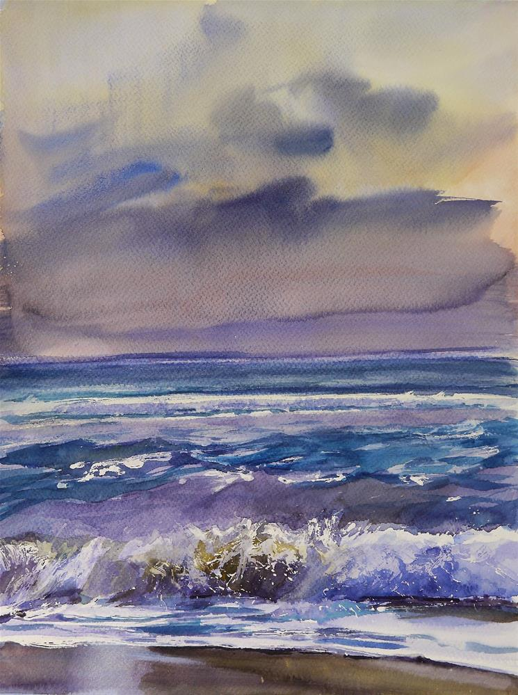 """dark ocean"" original fine art by Beata Musial-Tomaszewska"