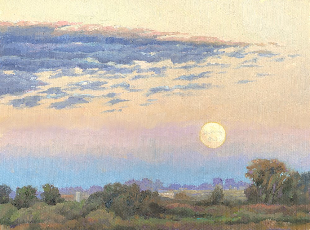 """Moonrise"" original fine art by Kath Reilly"
