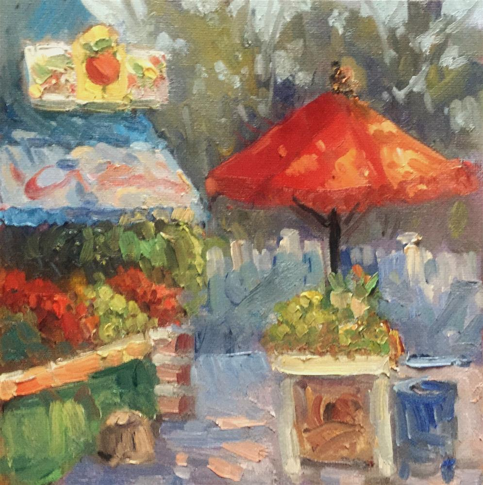 """Fruits and Veggies"" original fine art by Connie Snipes"