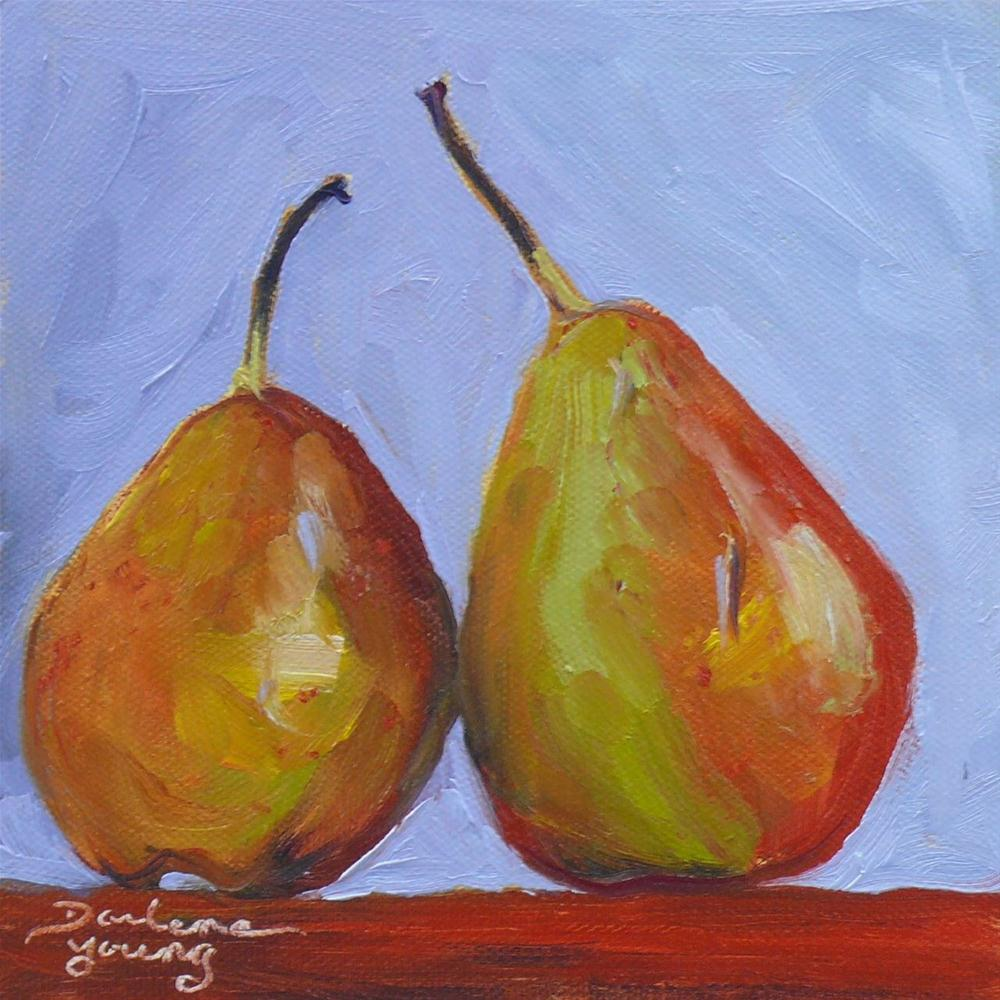 """609 Pear Pair"" original fine art by Darlene Young"