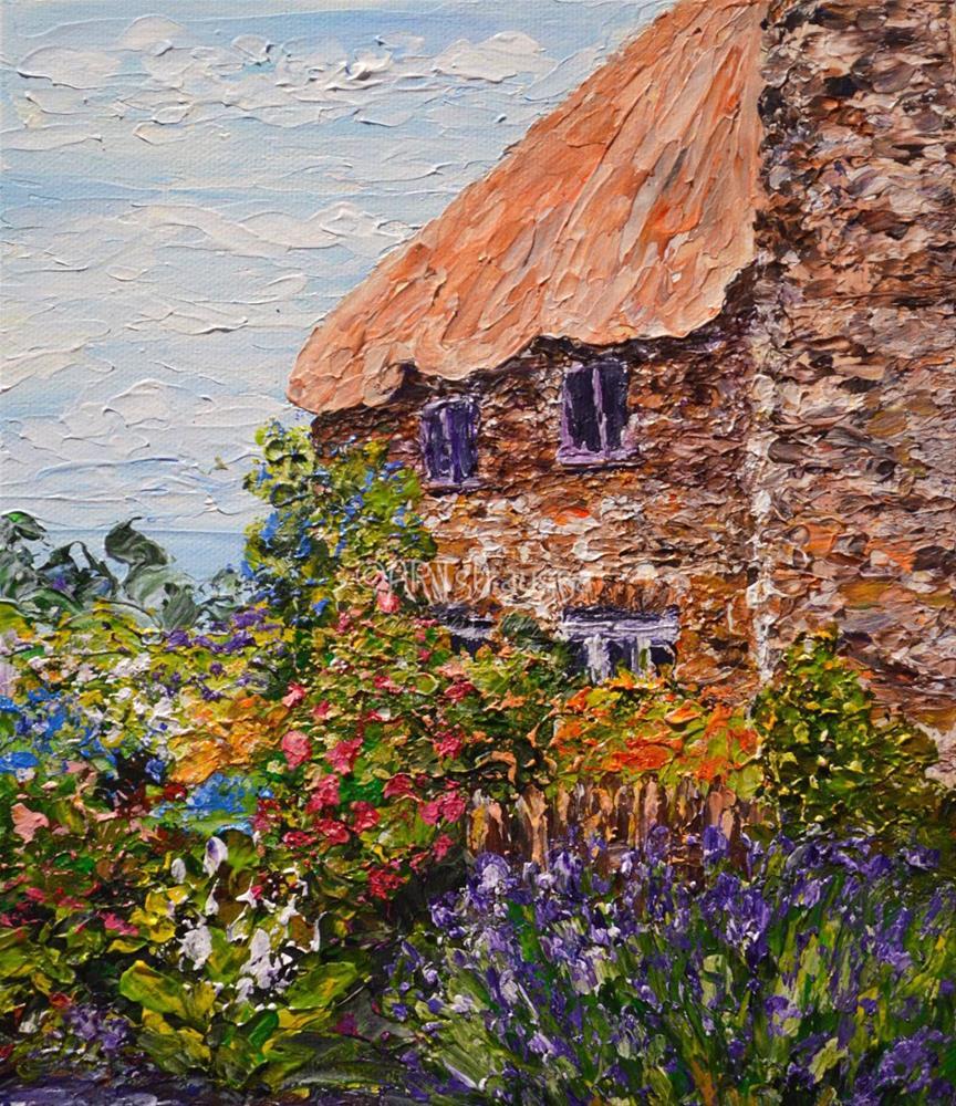 """""""Bossington"""" original fine art by Gloria Ester"""