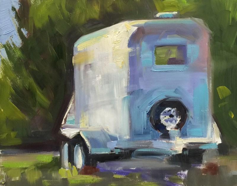 """Ye Olde Travel Trailer"" original fine art by Patti McNutt"