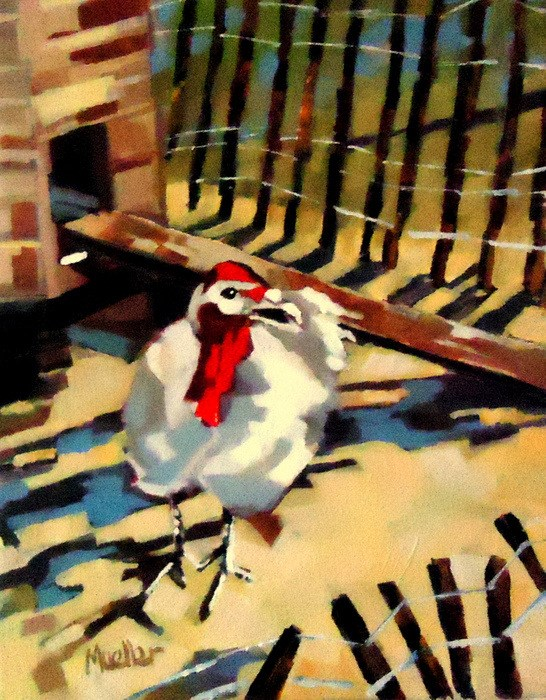 """They Invited Me For Thanksging!!"" original fine art by Laurie Mueller"