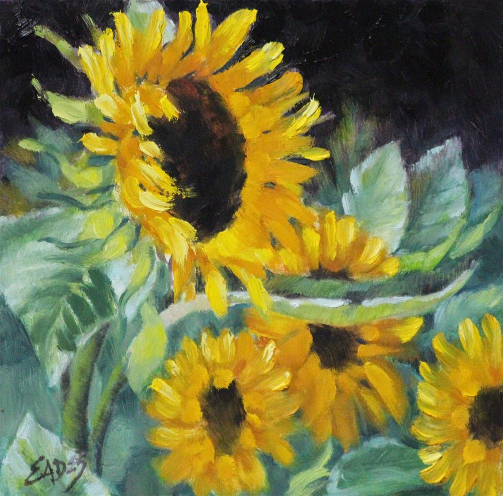"""Sunflower Rage"" original fine art by Linda Eades Blackburn"