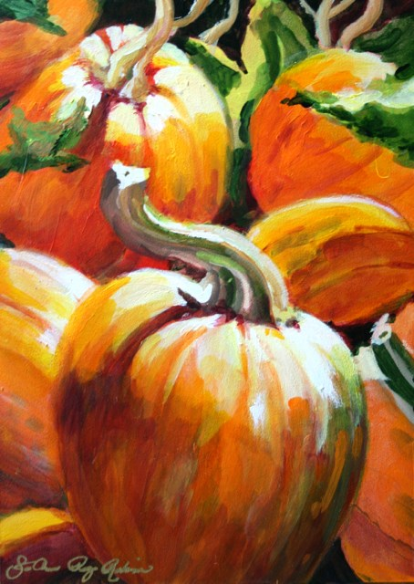 """The Fall Preview"" original fine art by JoAnne Perez Robinson"