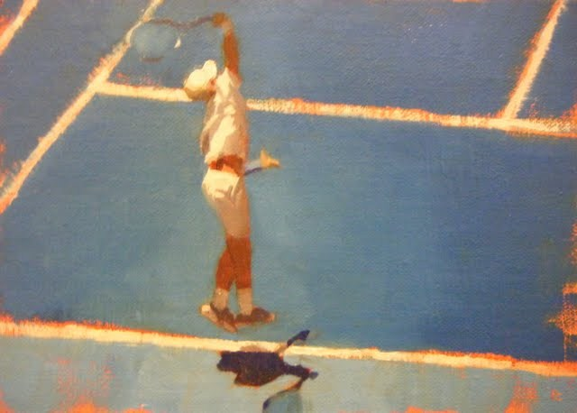 """AUSTRALIAN TENNIS OPEN - 6"" original fine art by Helen Cooper"