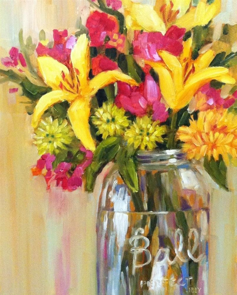 """Summer in a Jar"" original fine art by Libby Anderson"