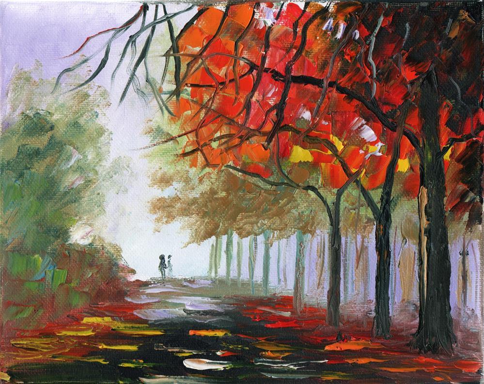 """Morning Stroll 2"" original fine art by Richard St.Jean"