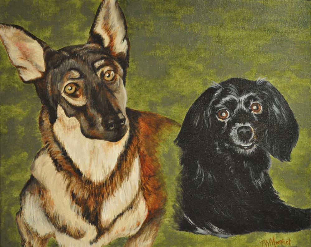 """Shebia & Ramie"" original fine art by Peggy W Morvant"
