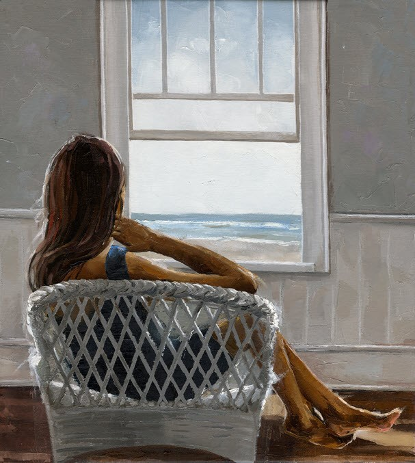 """Ocean Breeze - No.24"" original fine art by Victor Bauer"