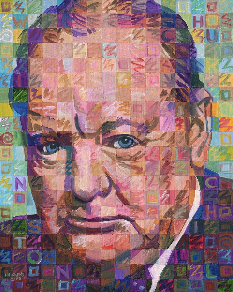 """Winston Churchill"" original fine art by Randal Huiskens"