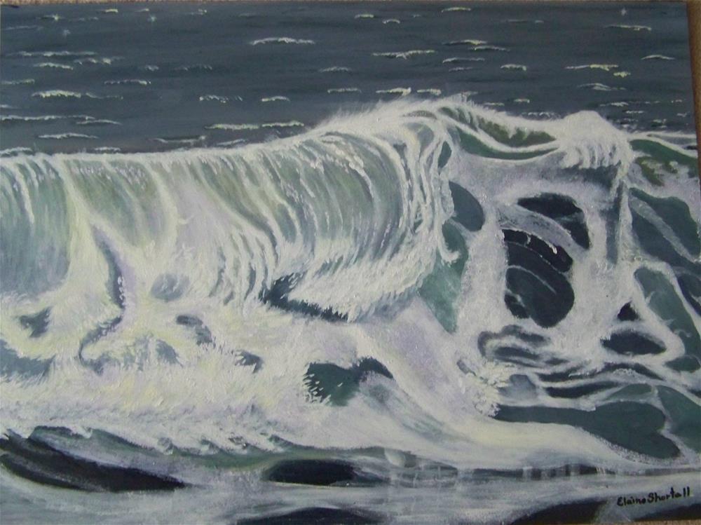 """""""First Wave (Framed)"""" original fine art by Elaine Shortall"""