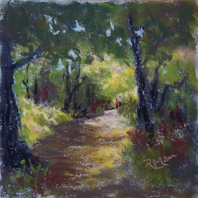 """""""Summer walk"""" original fine art by Ruth Mann"""