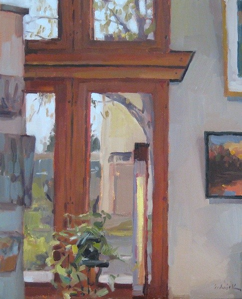 """In The Gallery"" original fine art by Sarah Sedwick"