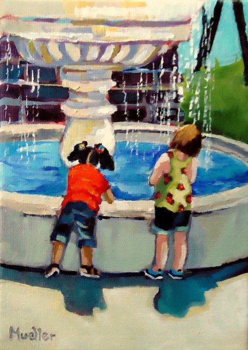 """Fountain of Youth"" original fine art by Laurie Mueller"