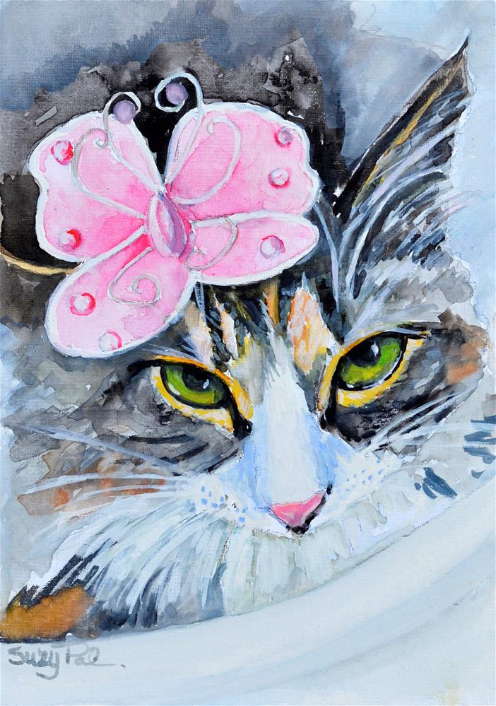 """Savannah in Pinnk"" original fine art by Suzy 'Pal' Powell"