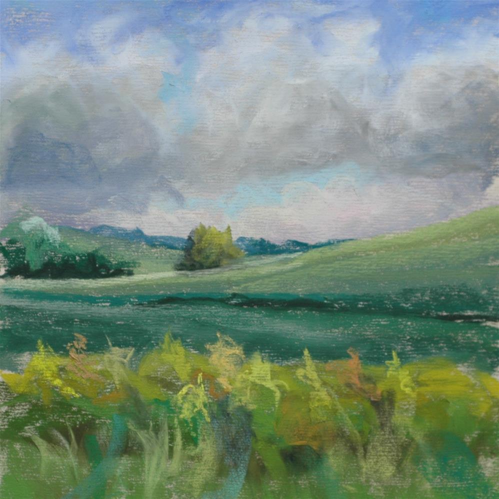 """""""100 Strokes, 100 Colors, 100 Sq Inches"""" original fine art by Susan Klabak"""