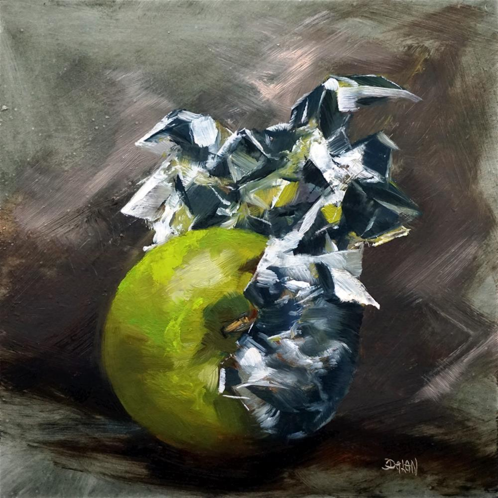"""Foiled Apple"" original fine art by Dalan Wells"