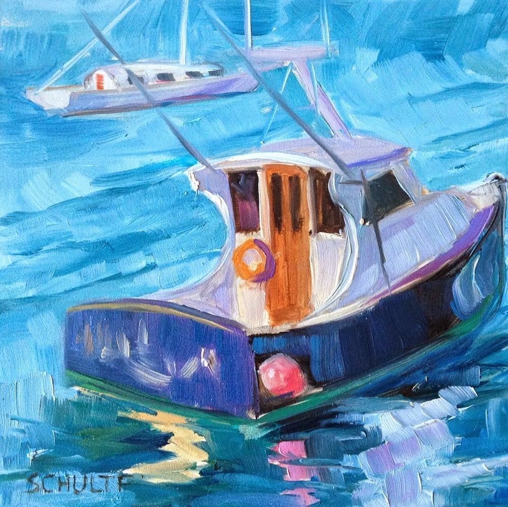 """Manchester Boat"" original fine art by Lynne Schulte"