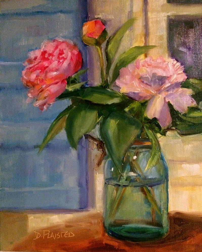 """Peonies"" original fine art by Diane Plaisted"
