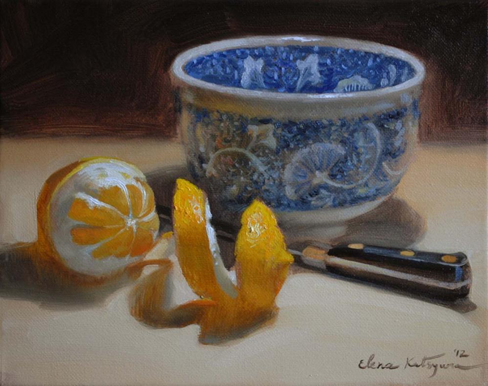 """Blue Moon"" original fine art by Elena Katsyura"