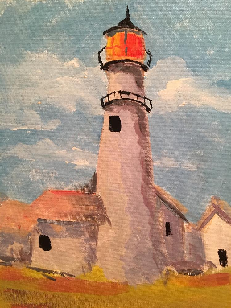 """Lighthouse study II"" original fine art by Susan Elizabeth Jones"