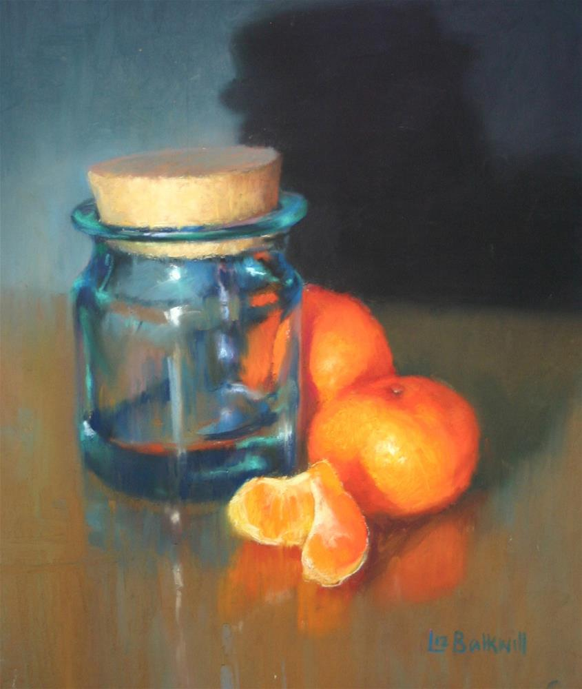 """Glass jar with citrus"" original fine art by Liz Balkwill"