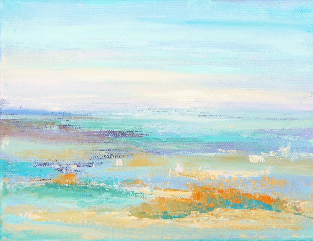 """Namibia Impressions 7 - Shimmering Horizon"" original fine art by Marion Hedger"
