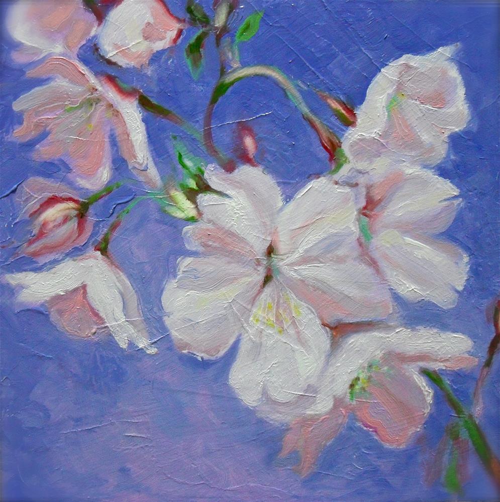 """Cherry Blossoms"" original fine art by Karen Roncari"