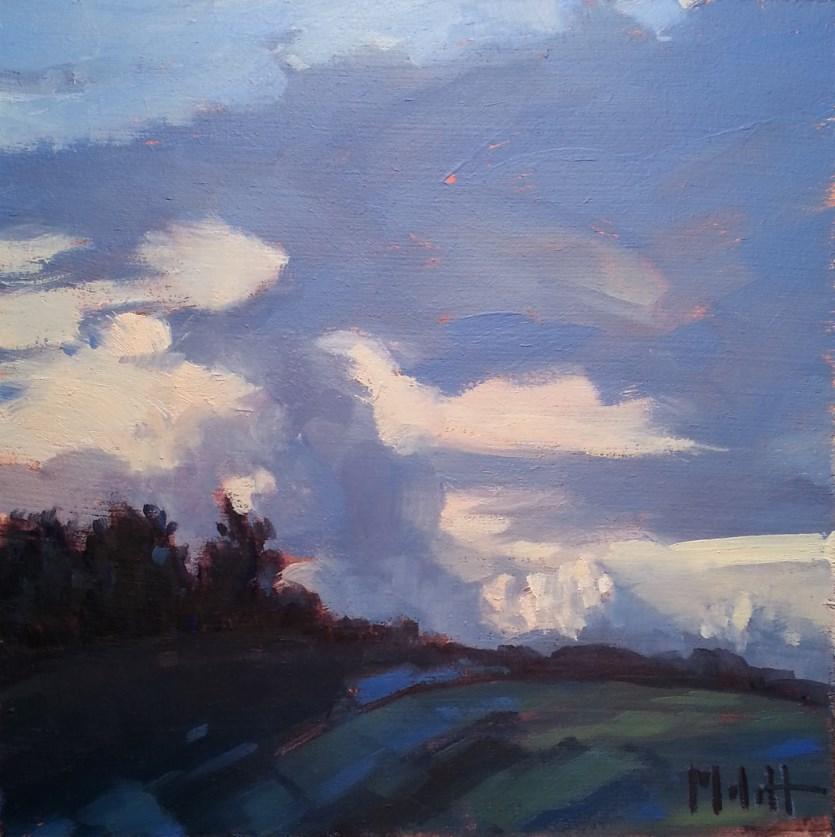"""Indigo Landscape Original Impressionism Daily Oil Painting"" original fine art by Heidi Malott"